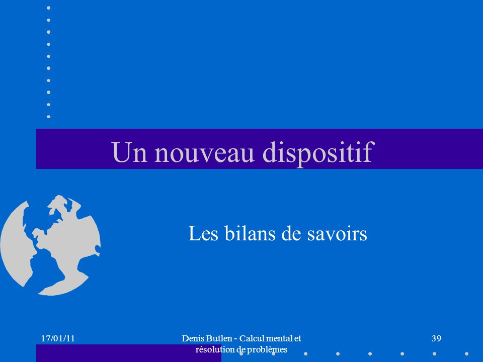 Denis Butlen - Calcul mental et résolution de problèmes