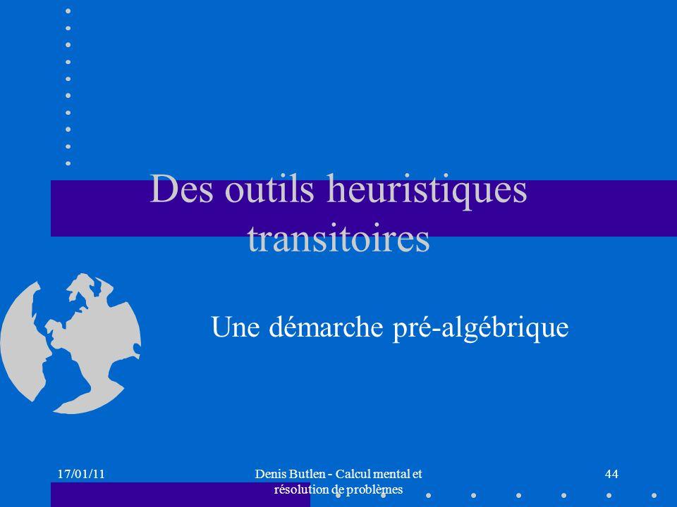 Des outils heuristiques transitoires