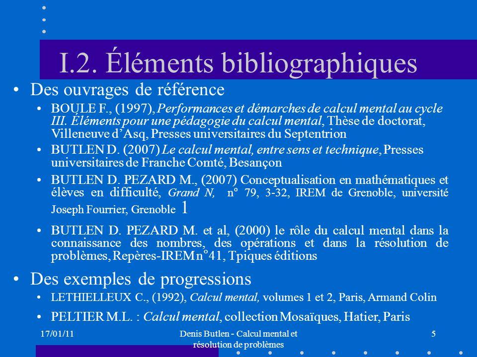 I.2. Éléments bibliographiques