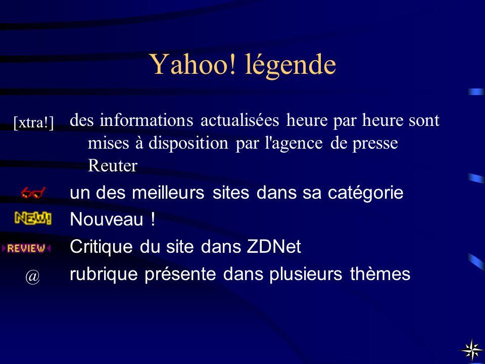 Yahoo! légende des informations actualisées heure par heure sont mises à disposition par l agence de presse Reuter.