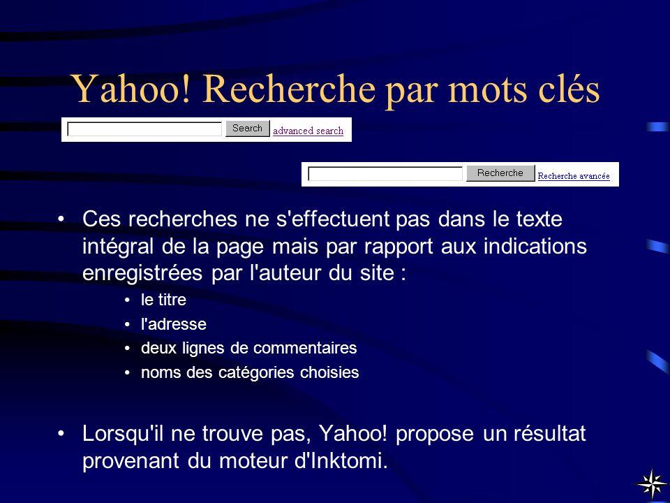Yahoo! Recherche par mots clés