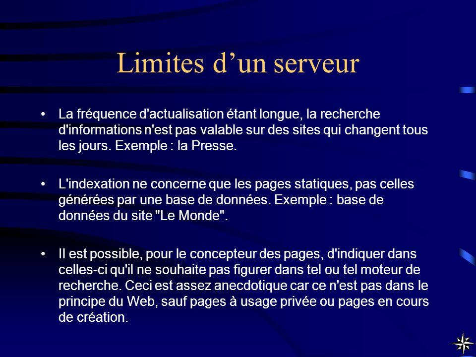 Limites d'un serveur