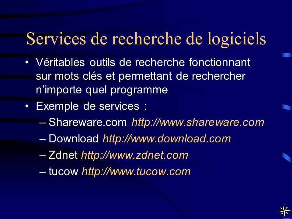 Services de recherche de logiciels