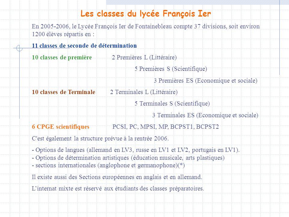 Les classes du lycée François Ier