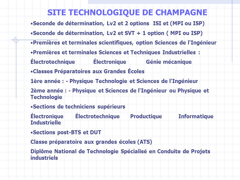 SITE TECHNOLOGIQUE DE CHAMPAGNE