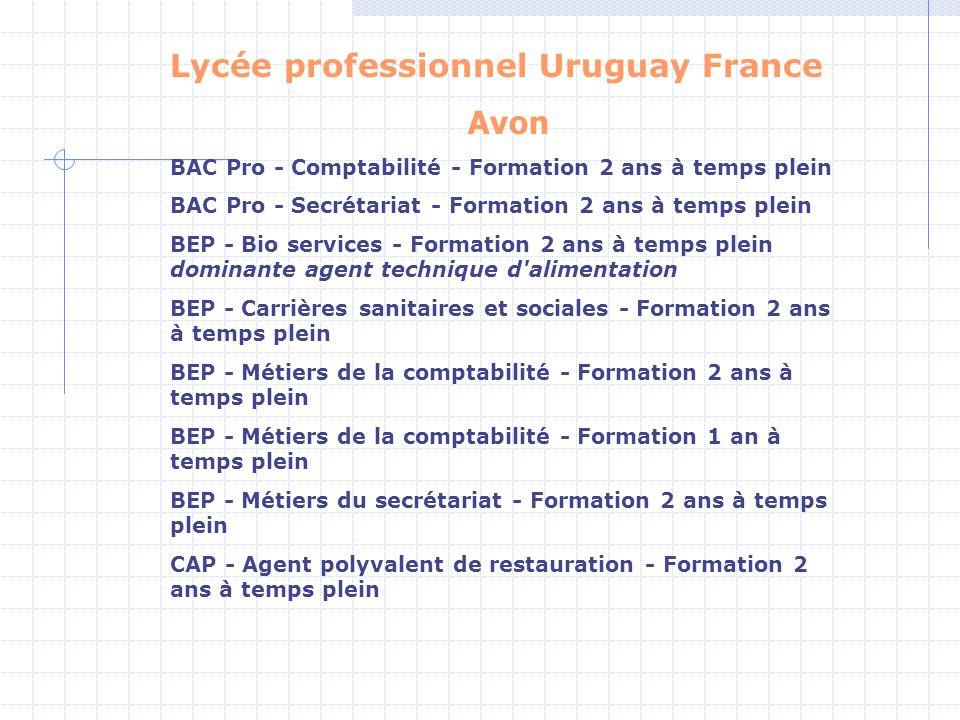 Lycée professionnel Uruguay France Avon