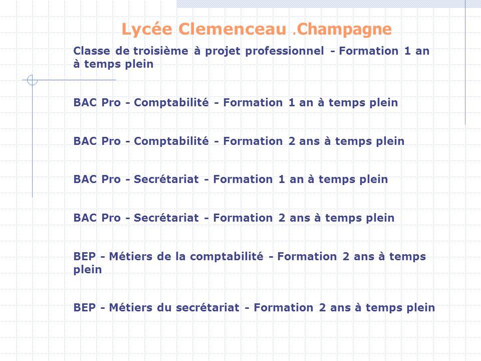 Lycée Clemenceau .Champagne
