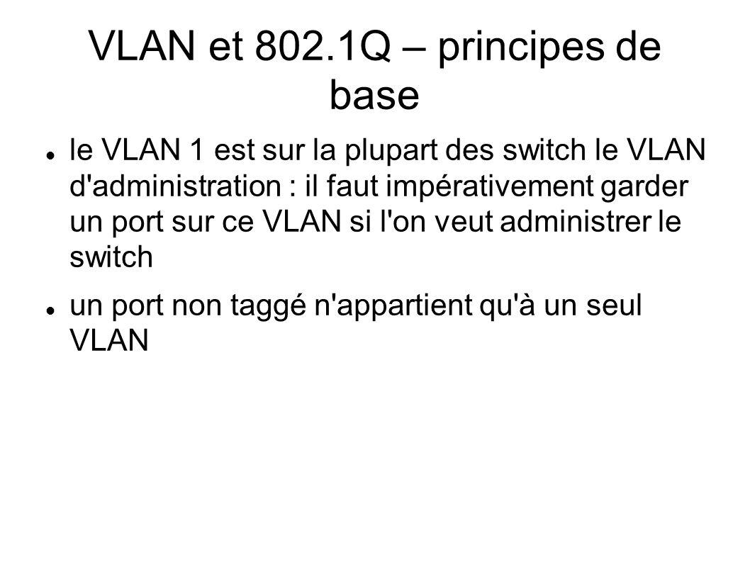 VLAN et 802.1Q – principes de base