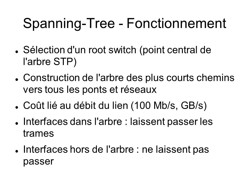 Spanning-Tree - Fonctionnement
