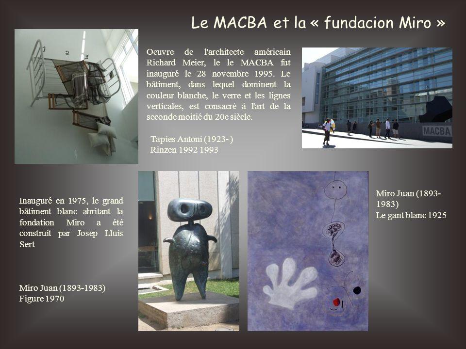 Le MACBA et la « fundacion Miro »