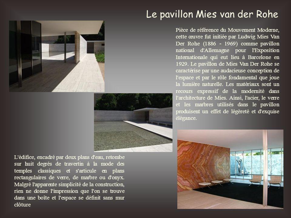 Le pavillon Mies van der Rohe