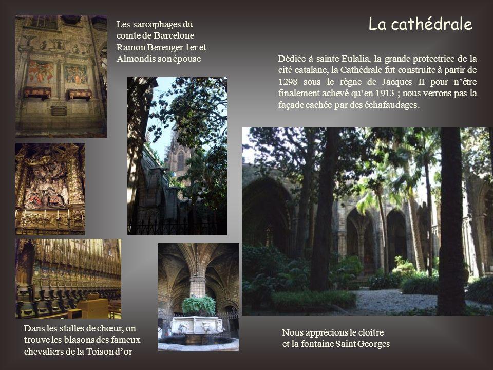 La cathédrale Les sarcophages du comte de Barcelone Ramon Berenger 1er et Almondis son épouse.