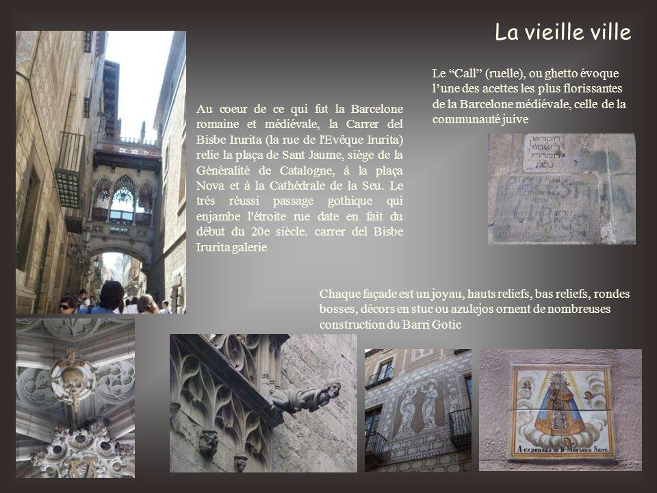 La vieille ville Le Call (ruelle), ou ghetto évoque l'une des acettes les plus florissantes de la Barcelone médiévale, celle de la communauté juive.