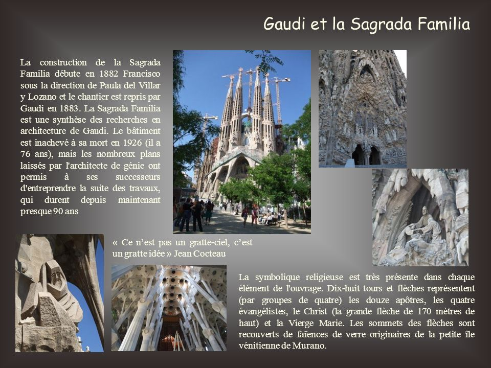 Gaudi et la Sagrada Familia
