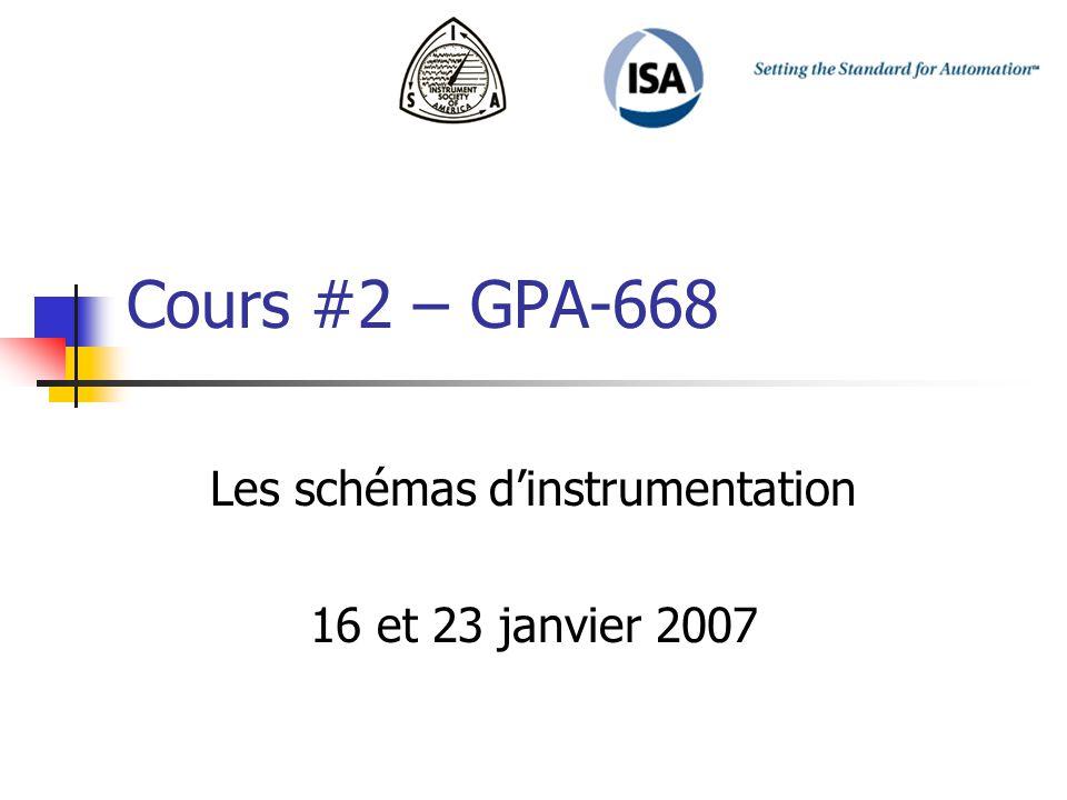 Les schémas d'instrumentation 16 et 23 janvier 2007