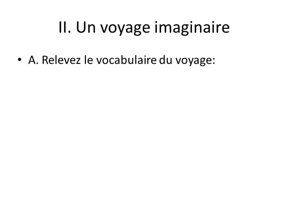 II. Un voyage imaginaire