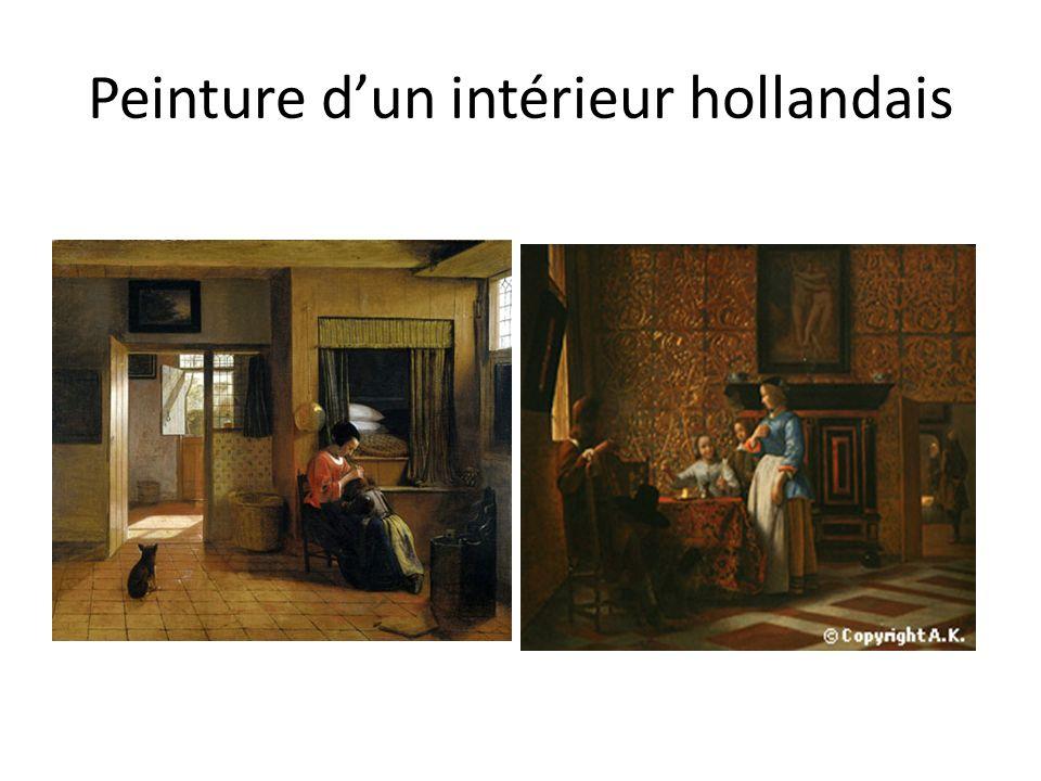 Peinture d'un intérieur hollandais