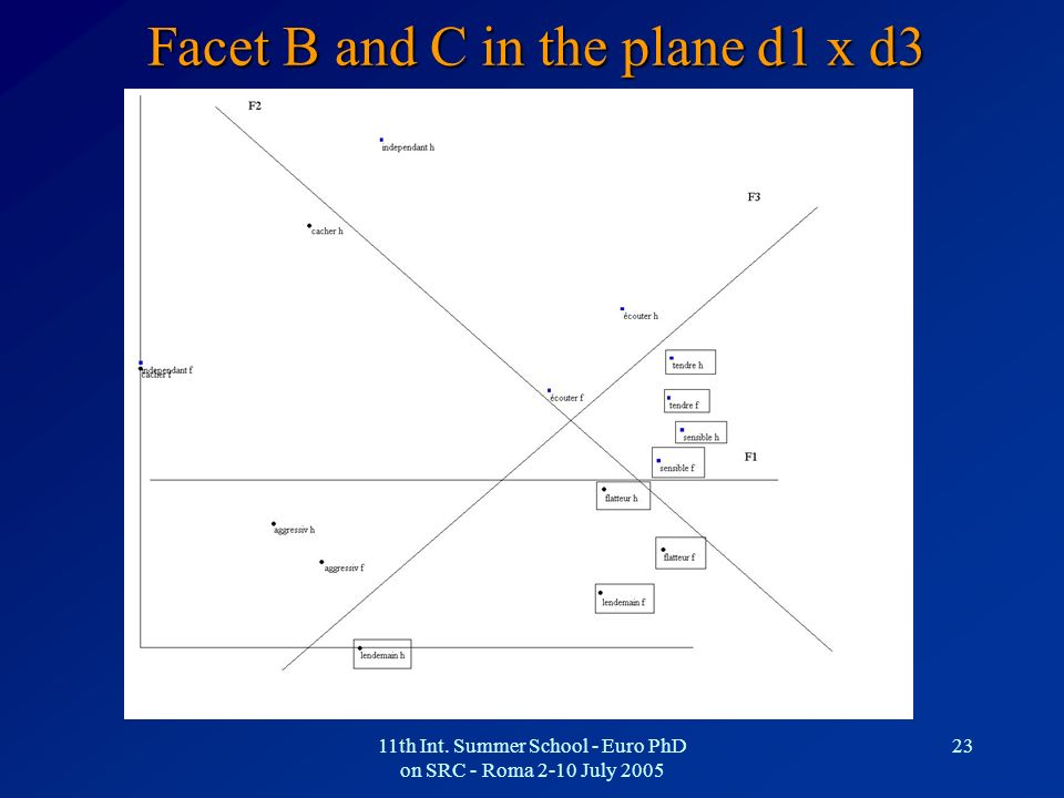 Facet B and C in the plane d1 x d3