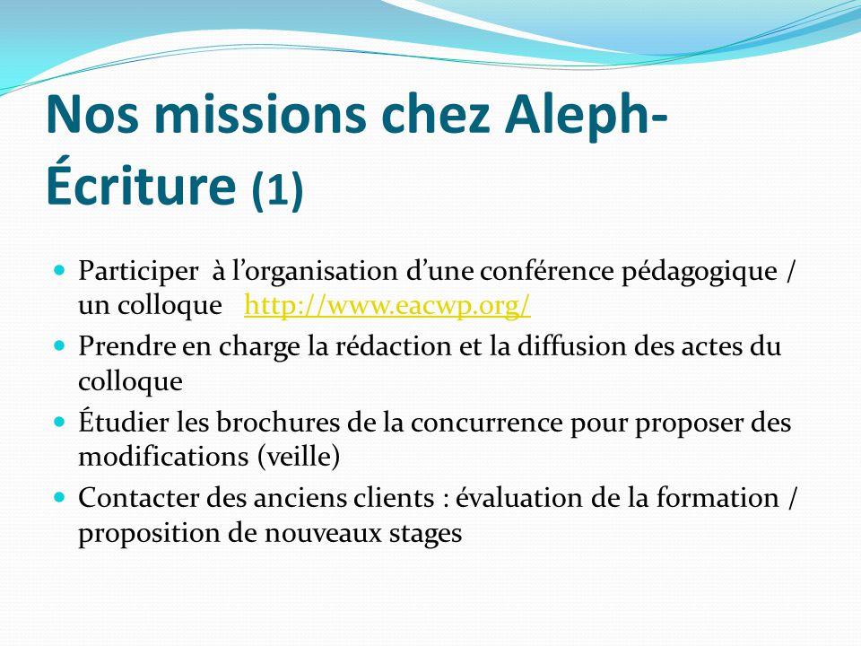 Nos missions chez Aleph-Écriture (1)