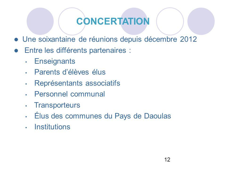 CONCERTATION Une soixantaine de réunions depuis décembre 2012