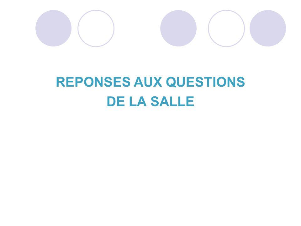 REPONSES AUX QUESTIONS