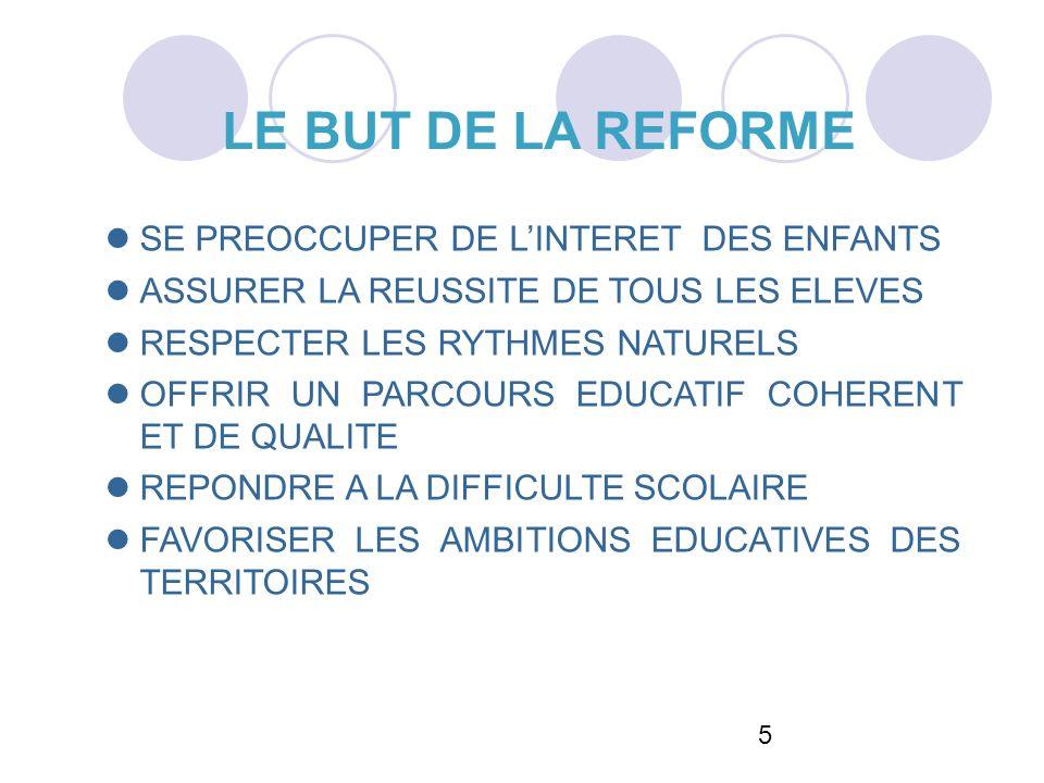 LE BUT DE LA REFORME 55 SE PREOCCUPER DE L'INTERET DES ENFANTS