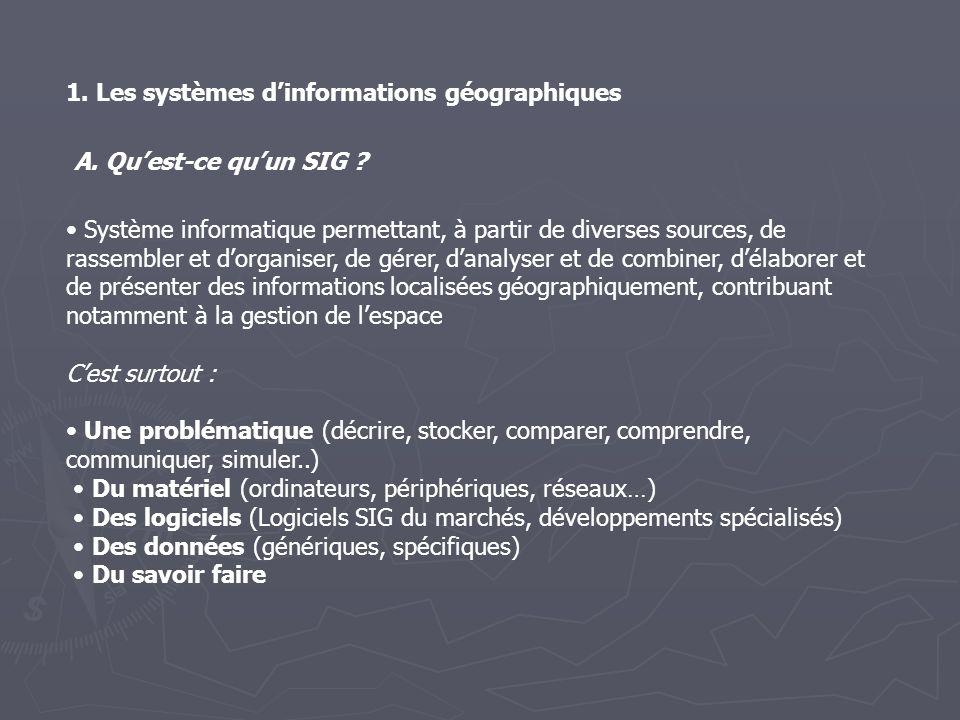1. Les systèmes d'informations géographiques