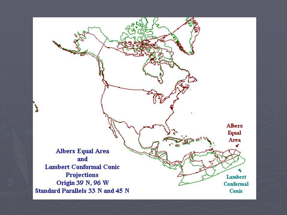 Des projections cartographiques différentes signifient des relations spatiales différentes entre des régions.
