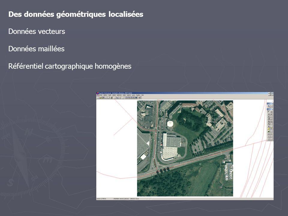 Des données géométriques localisées