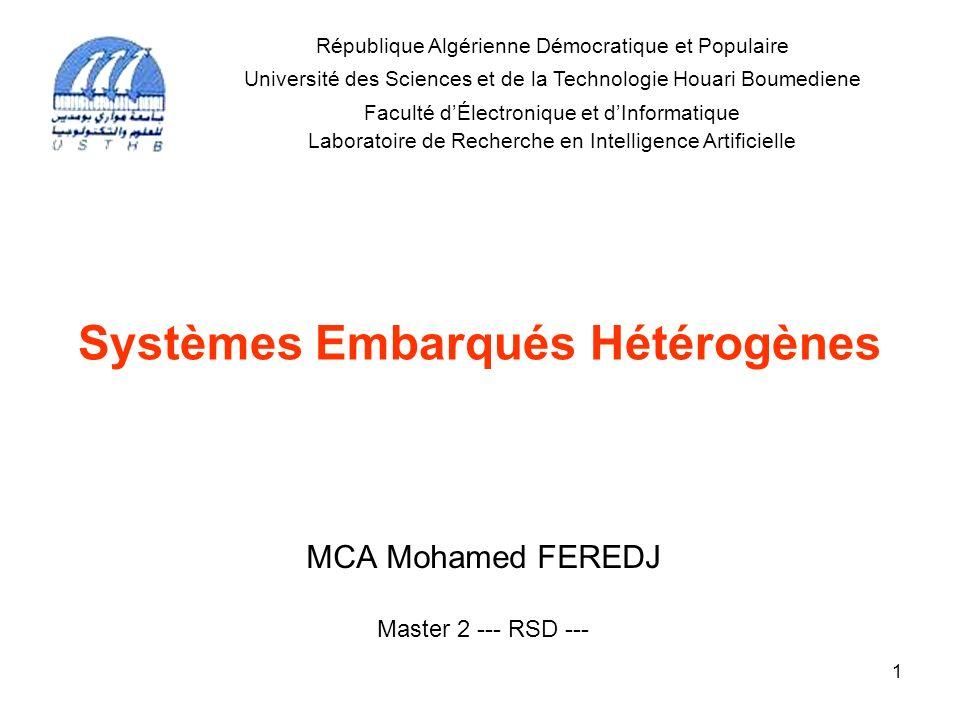 Systèmes Embarqués Hétérogènes
