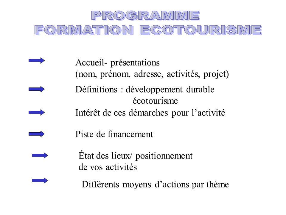 FORMATION ECOTOURISME