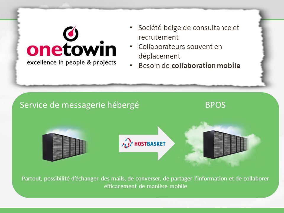Service de messagerie hébergé BPOS