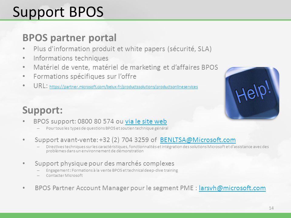 Support BPOS BPOS partner portal Support: