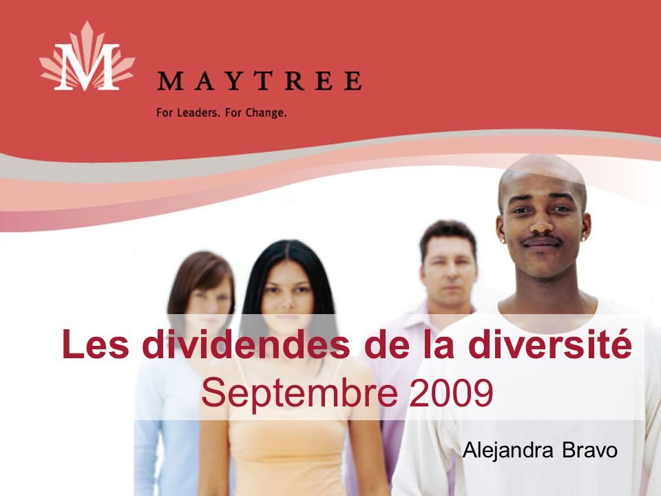 Les dividendes de la diversité Septembre 2009