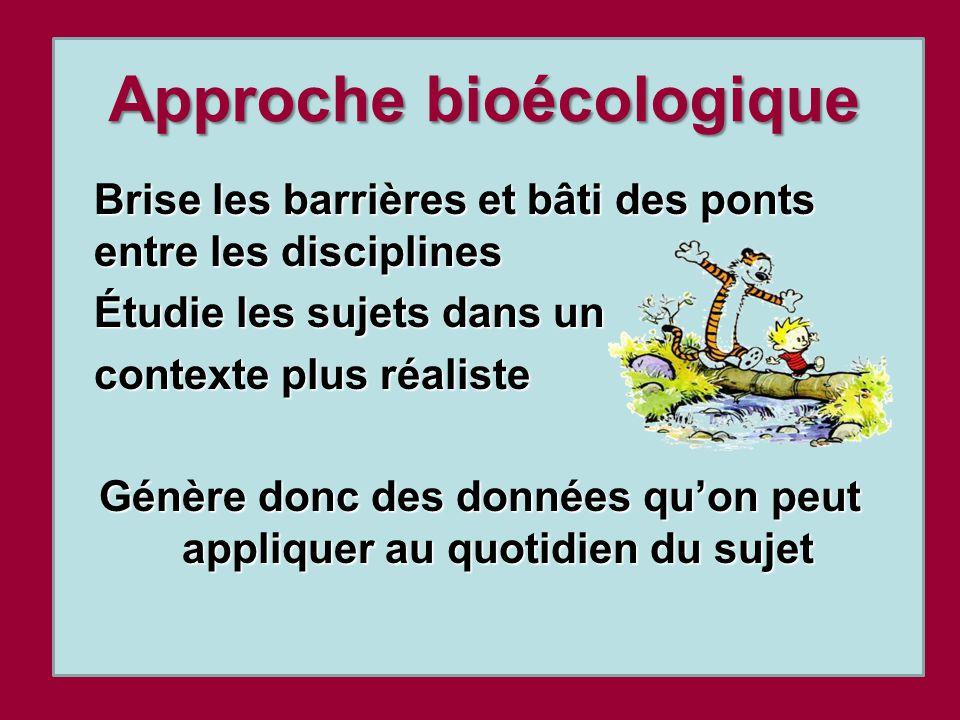 Approche bioécologique