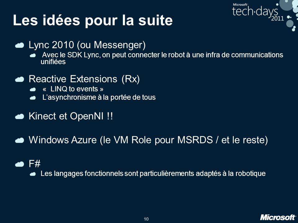 Les idées pour la suite Lync 2010 (ou Messenger)