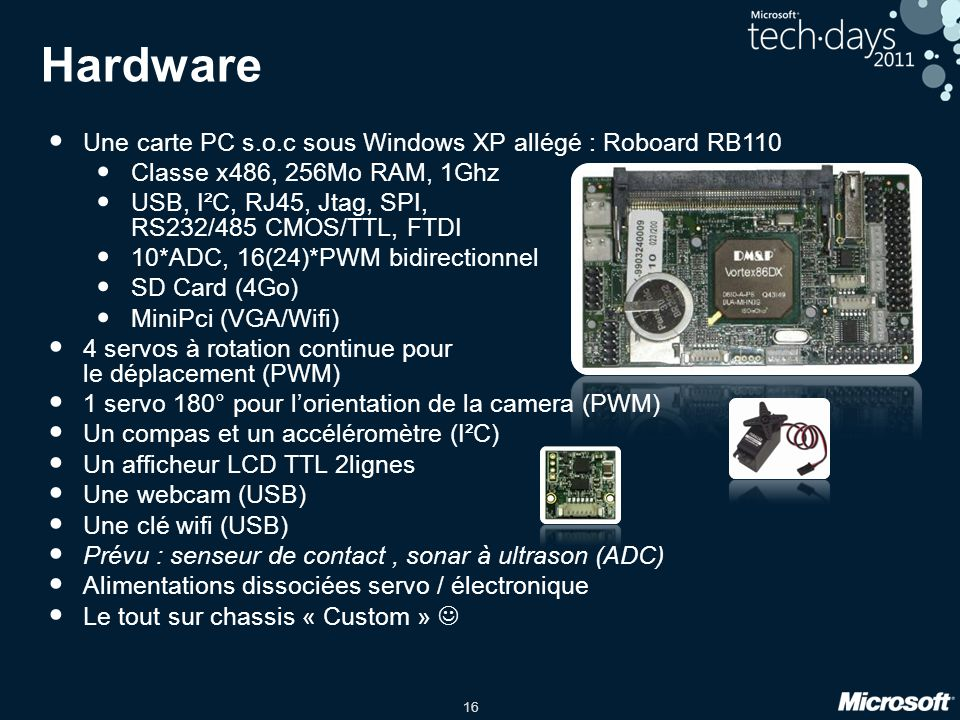 Hardware Une carte PC s.o.c sous Windows XP allégé : Roboard RB110