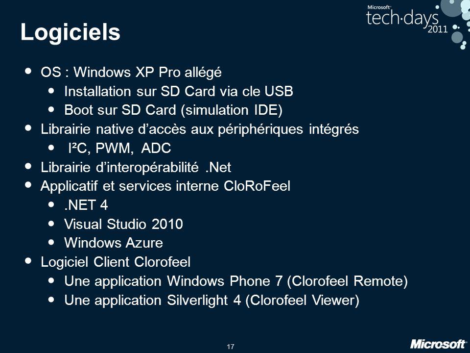 Logiciels OS : Windows XP Pro allégé