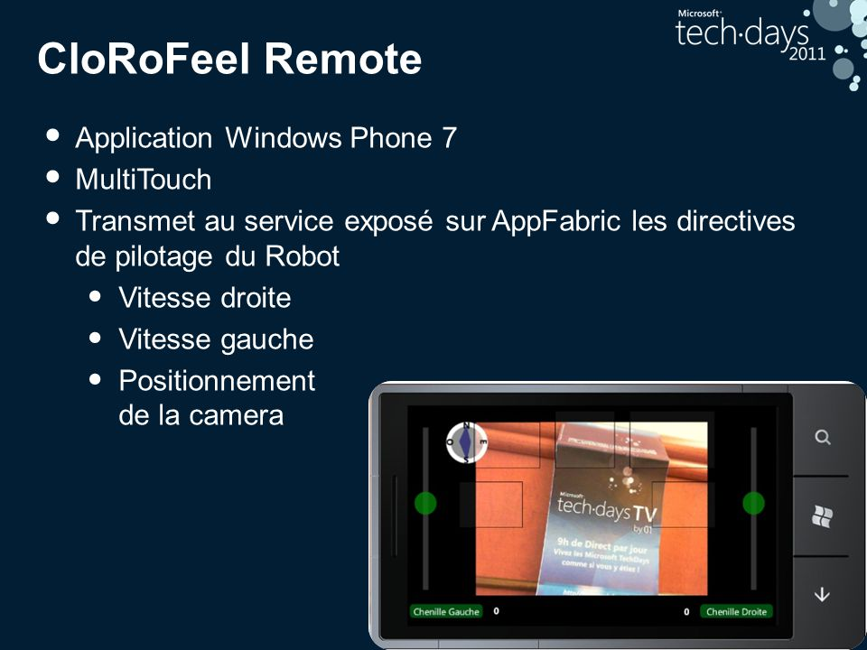 CloRoFeel Remote Application Windows Phone 7 MultiTouch
