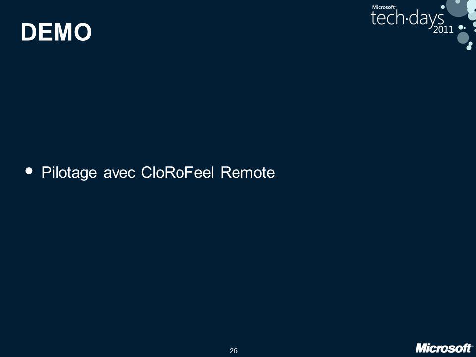 DEMO Pilotage avec CloRoFeel Remote