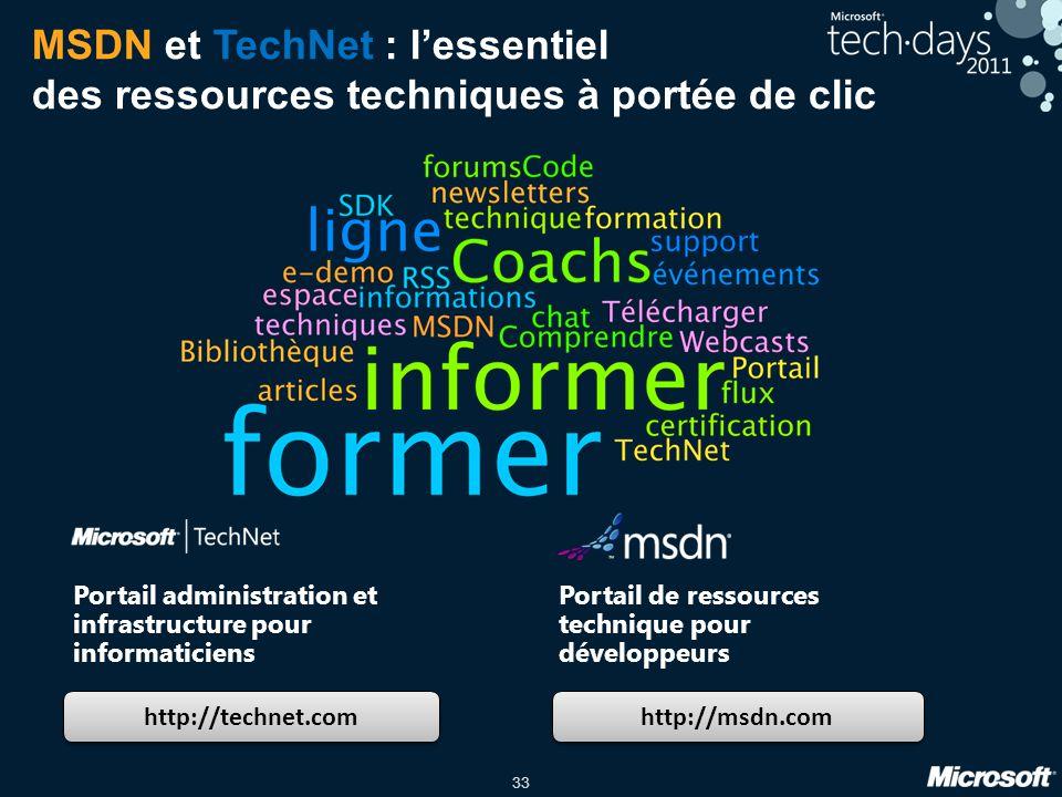 MSDN et TechNet : l'essentiel des ressources techniques à portée de clic