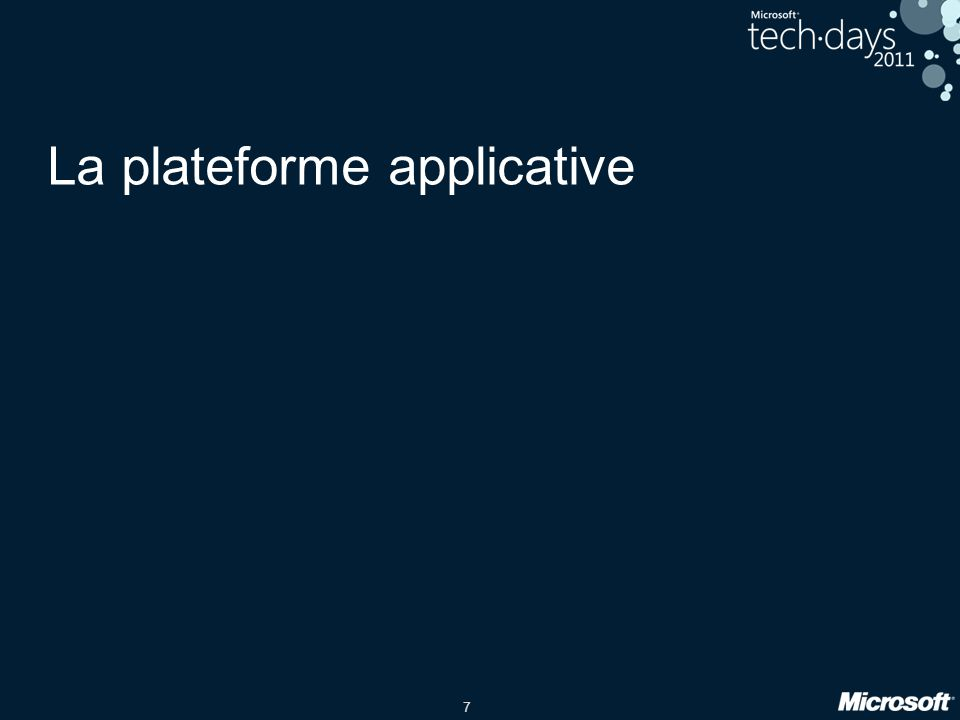 La plateforme applicative
