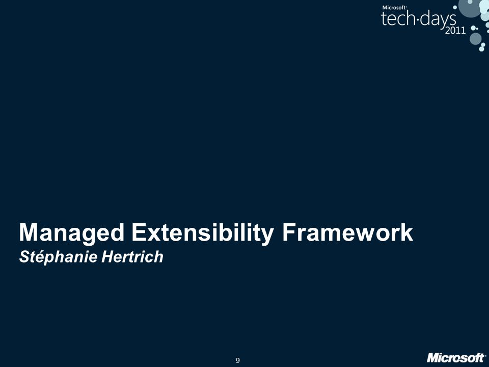 Managed Extensibility Framework Stéphanie Hertrich