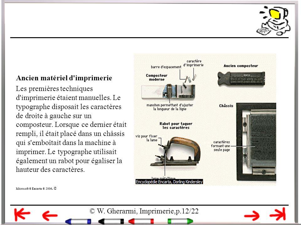 Ancien matériel d imprimerie