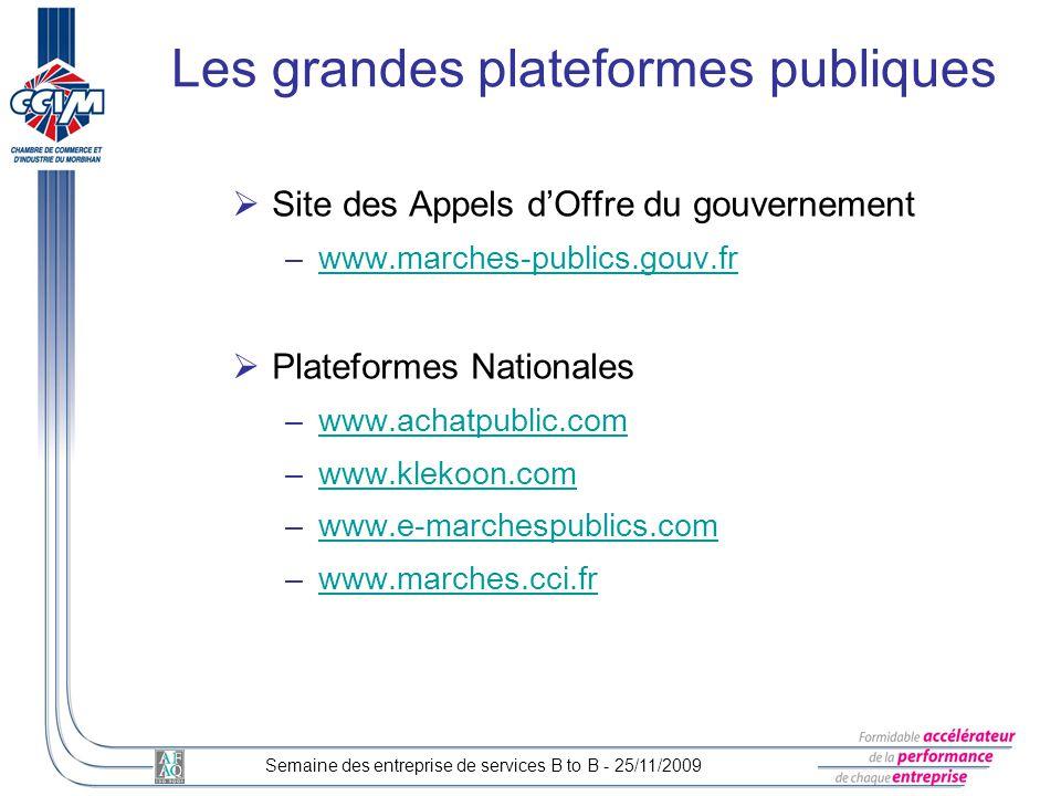 Les grandes plateformes publiques