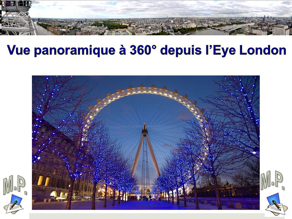 M.P. M.P. KAMDOU.NET Vue panoramique à 360° depuis l'Eye London