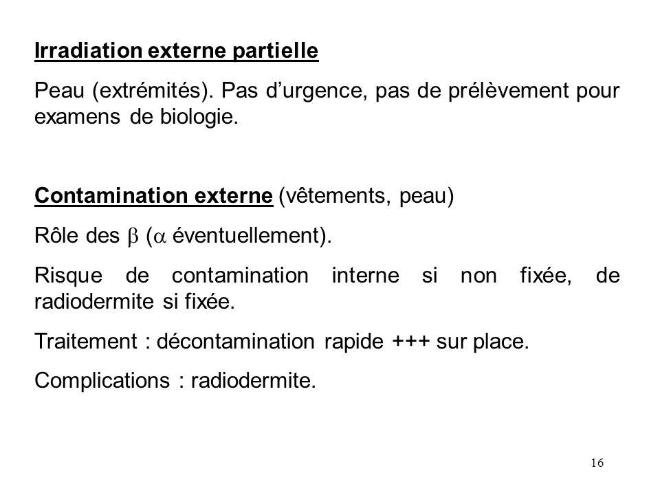Irradiation externe partielle