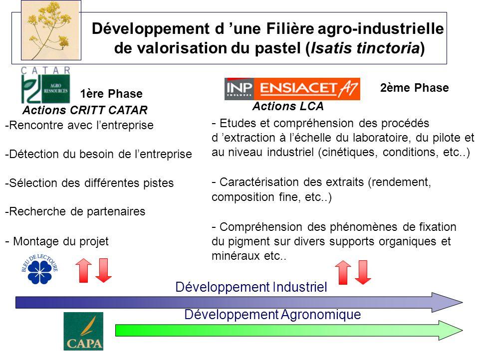 Développement d 'une Filière agro-industrielle