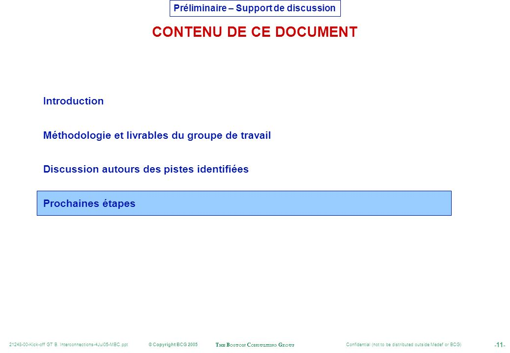 CONTENU DE CE DOCUMENT Introduction