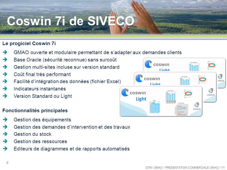 Coswin 7i de SIVECO Le progiciel Coswin 7i